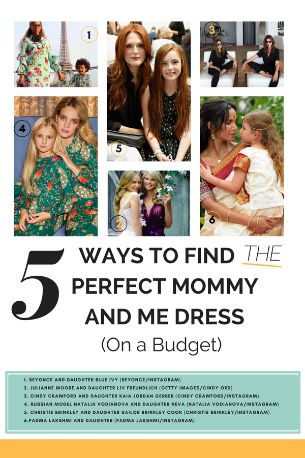 Mommy and me fashion examples