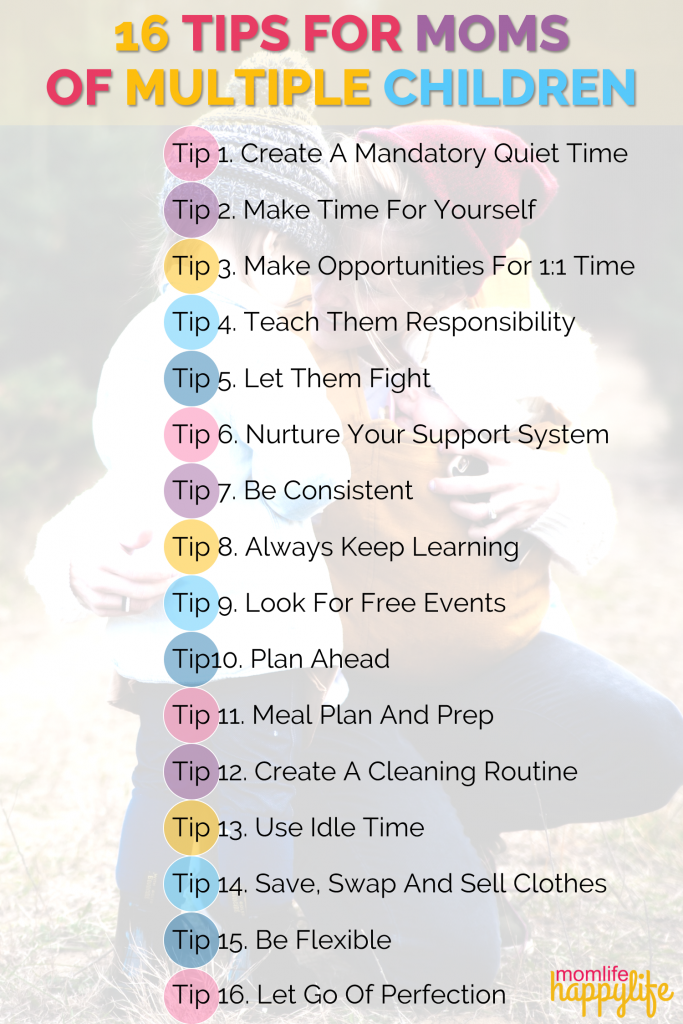 Tips for Moms with Multiple Children www.momlifehappylife.com