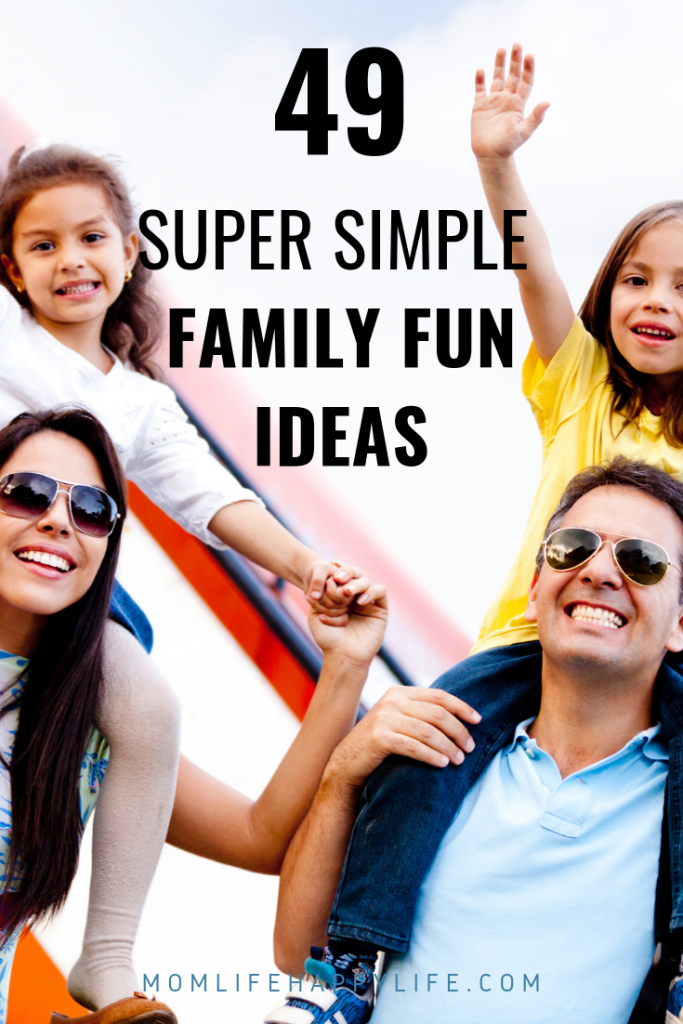 Family Bonding Ideas for simple bonding activities