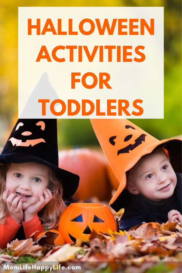 Halloween Activities for Kids | Halloween should be fun for the entire family.  That includes our toddlers. Discover fun Halloween activities that are designed especially for toddlers. #halloweenactivitiesfortoddlers #activitiesfortoddlers #halloweenactivitiesforkids