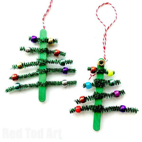 christmas crafts tree-ornaments-kids