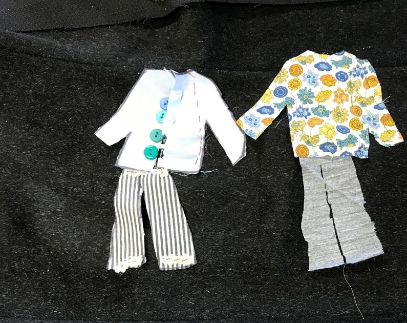 shapes fabric collage