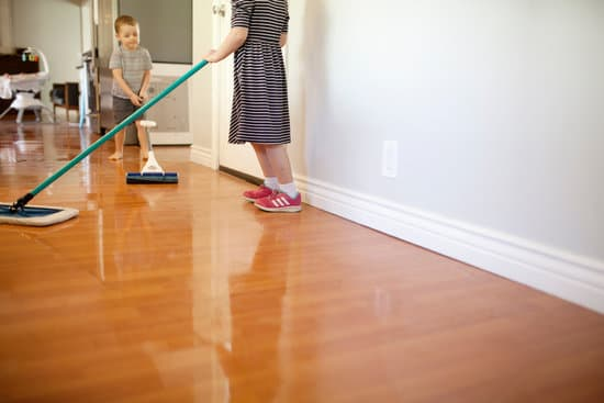 children cleaning the floors