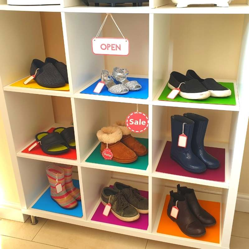 Pretend Play Activities For Toddlers DIY Shoe Shop
