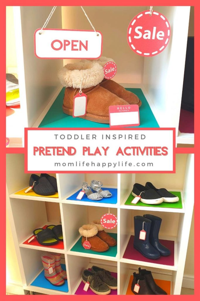 DIY Shoe Shop for Pretend Play with Toddler