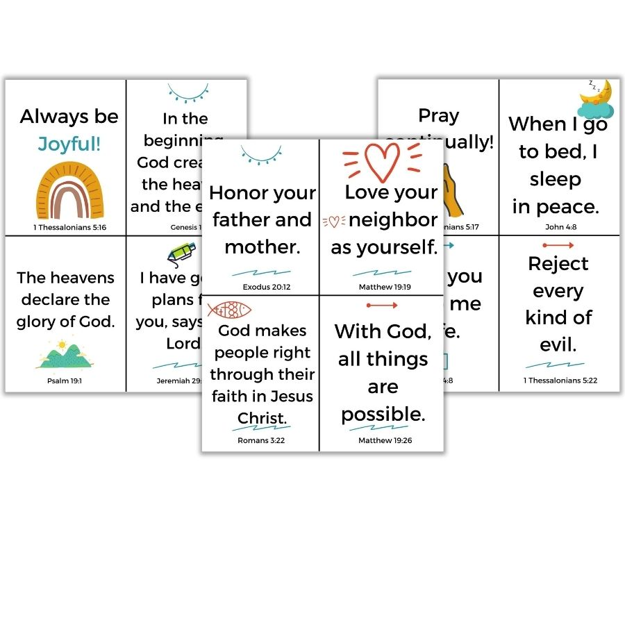 12 Short Bible Memory Verses for Kids