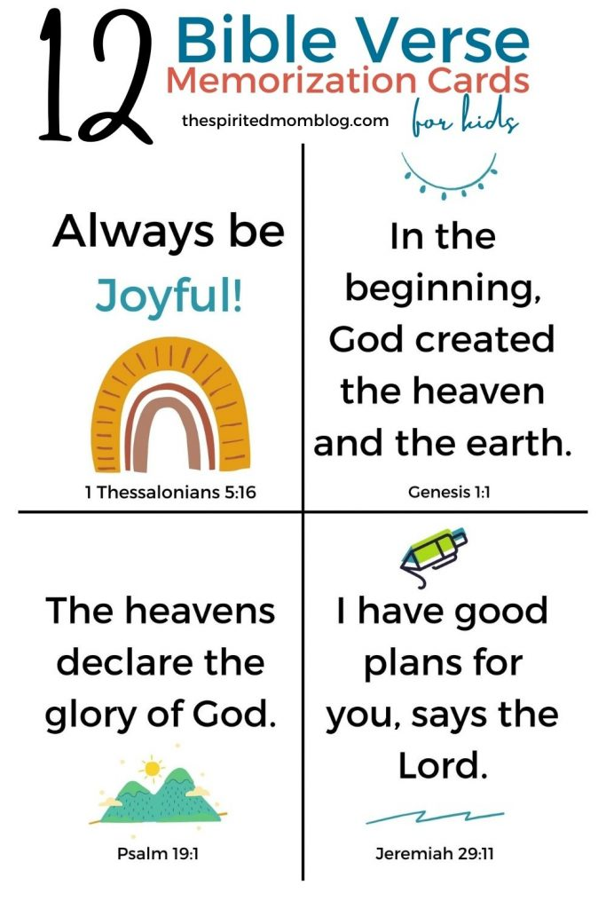 12 Short Bible Verses for Kids 0-2 years