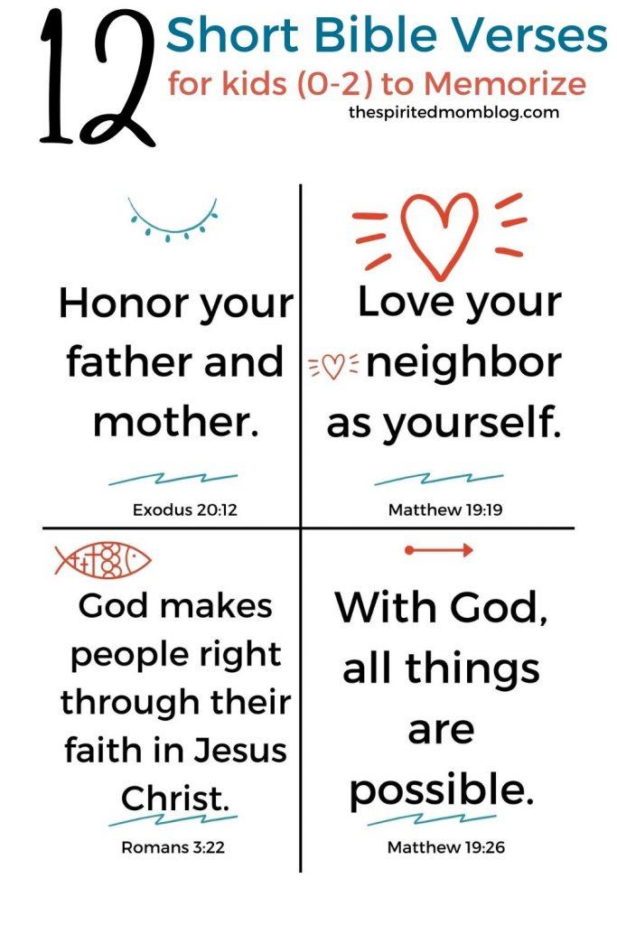 12 Short Bible Verses for kids to Memorize