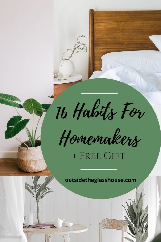 how to be a more productive homemaker