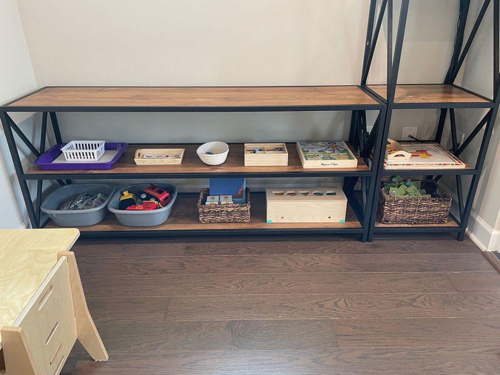 Montessori Toy shelf, Montessori toys, toddler, activities, 2 years old, montessori furniture, montessori shelf diy
