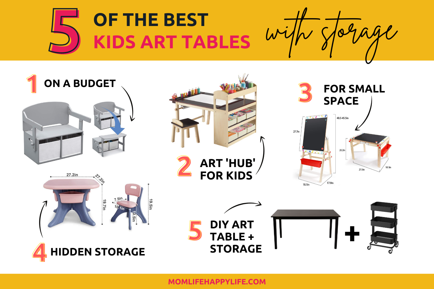 5 best kid art tables with storage for the home