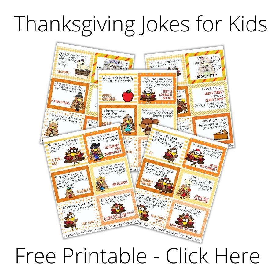 Click here for Thanksgiving Jokes for Kids