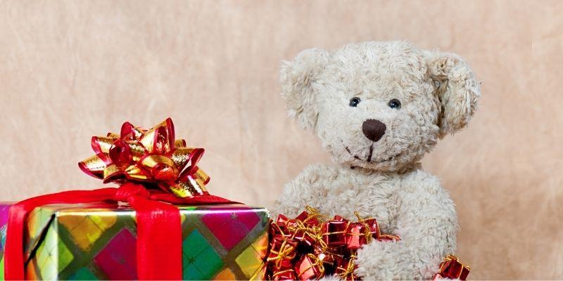 bear with Christmas present
