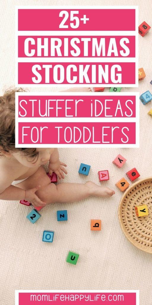 toddler stocking stuffer ideas toddler on floor playing with blocks